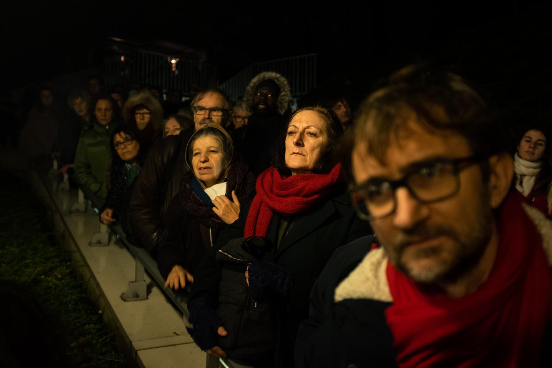 Manifestation contre la fermeture du théâtre de Ménilmontant